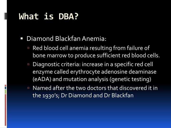 What is DBA?