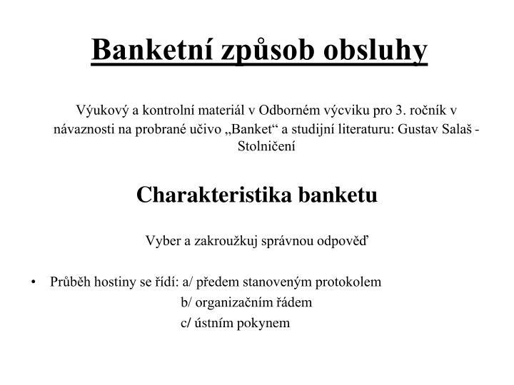 Banketn zp sob obsluhy