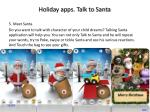 holiday apps talk to santa