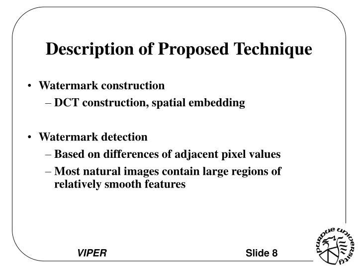 Description of Proposed Technique
