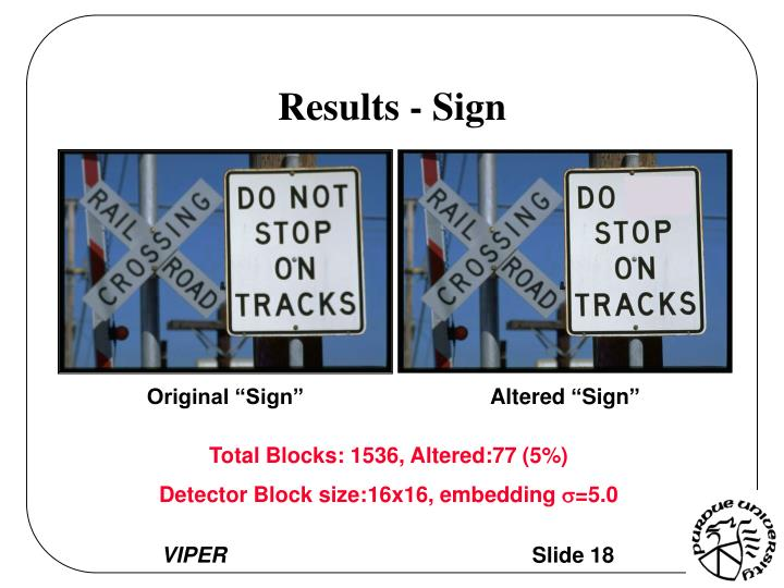 Results - Sign