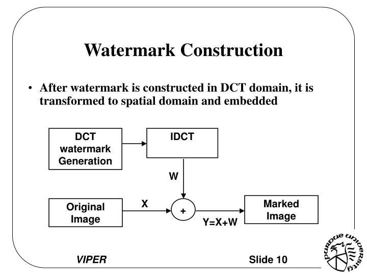 DCT watermark Generation