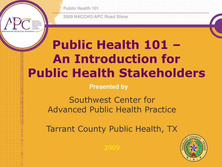 public health 101 an introduction for public health stakeholders n.
