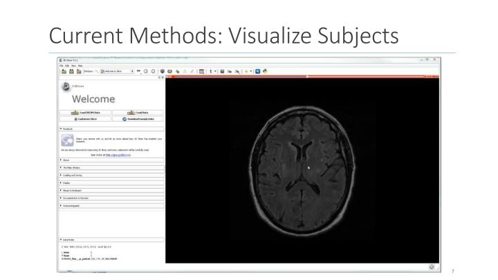 Current Methods: Visualize Subjects