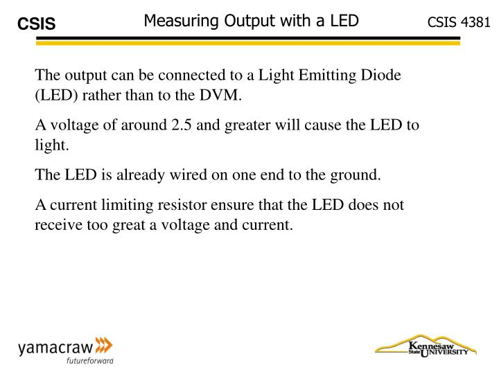 Measuring Output with a LED