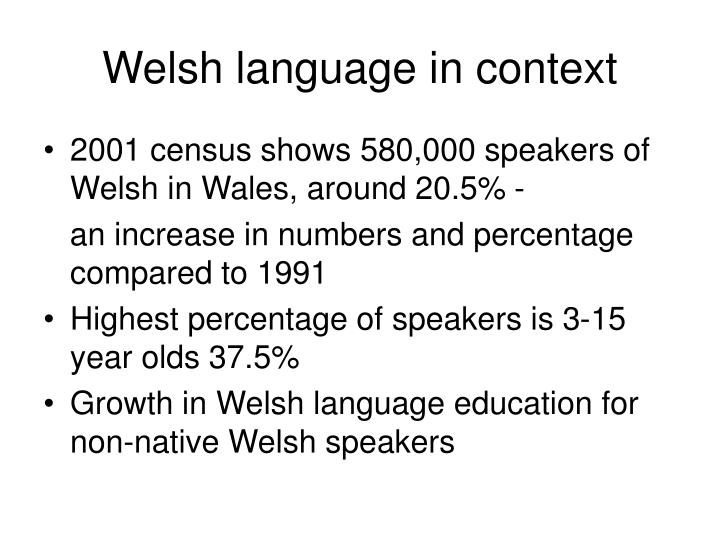 Welsh language in context