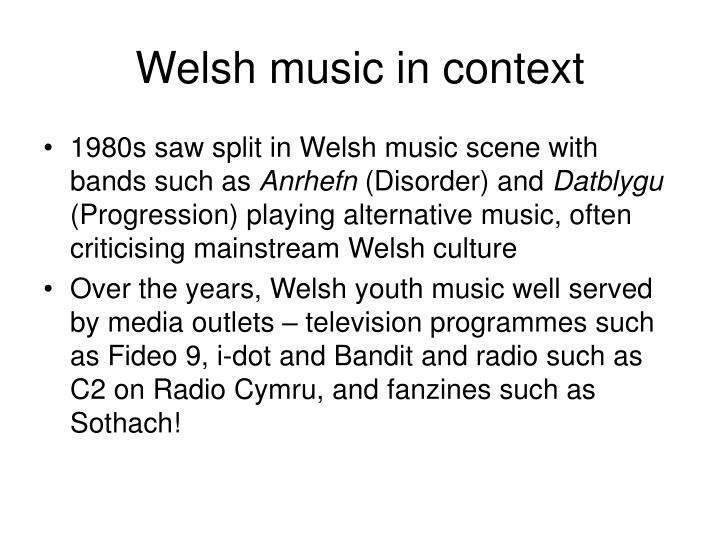 Welsh music in context
