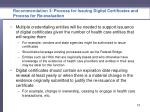 recommendation 3 p rocess for issuing digital certificates and process for re evaluation