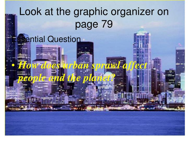 Look at the graphic organizer on page 79