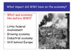 what impact did ww1 have on the economy1