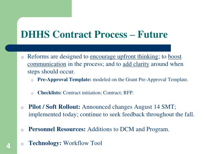DHHS Contract Process – Future