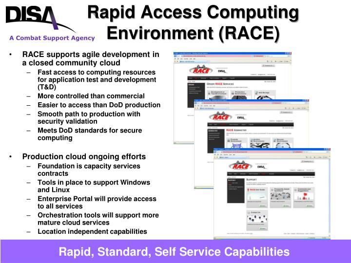 Rapid access computing environment race