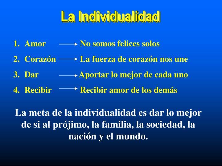 La Individualidad