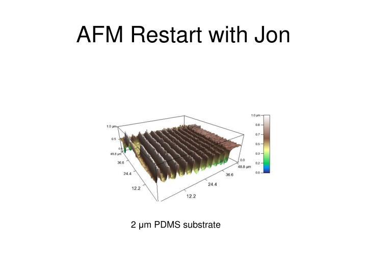 Afm restart with jon