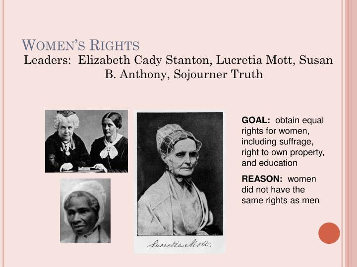 lucretia mott on womens rights The first us women's rights movement (1800's) by sharon fabian  new york in 1848 by lucretia mott and elizabeth cady stanton at that convention the women wrote an  the need for equal rights for women lucretia mott lucy stone mary wollstonecraft elizabeth cady stanton 5.