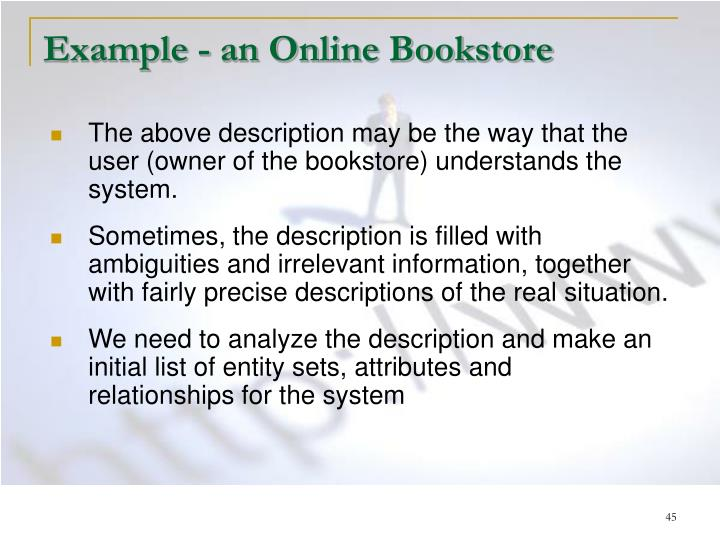 Example - an Online Bookstore