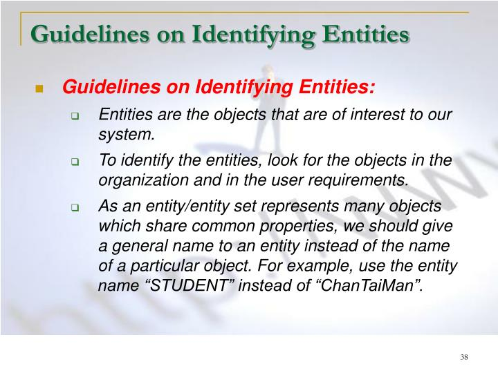 Guidelines on Identifying Entities