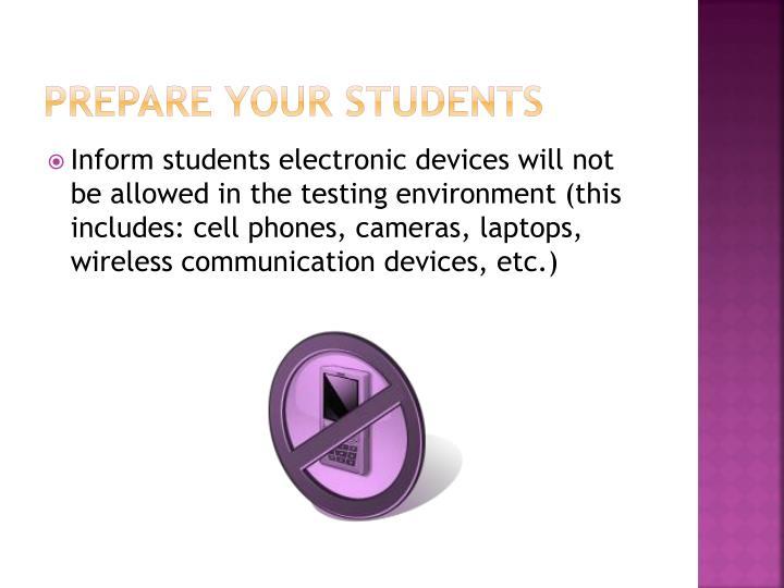 Prepare Your Students