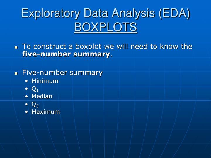 Exploratory data analysis eda boxplots