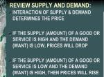 review supply and demand