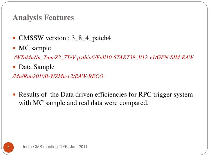Analysis Features