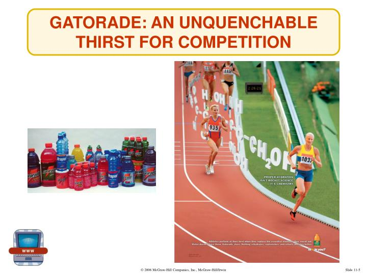 GATORADE: AN UNQUENCHABLE THIRST FOR COMPETITION