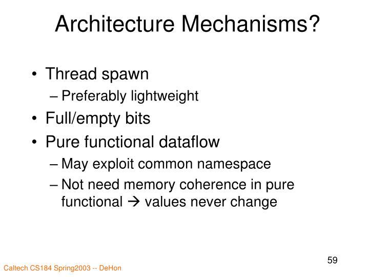Architecture Mechanisms?