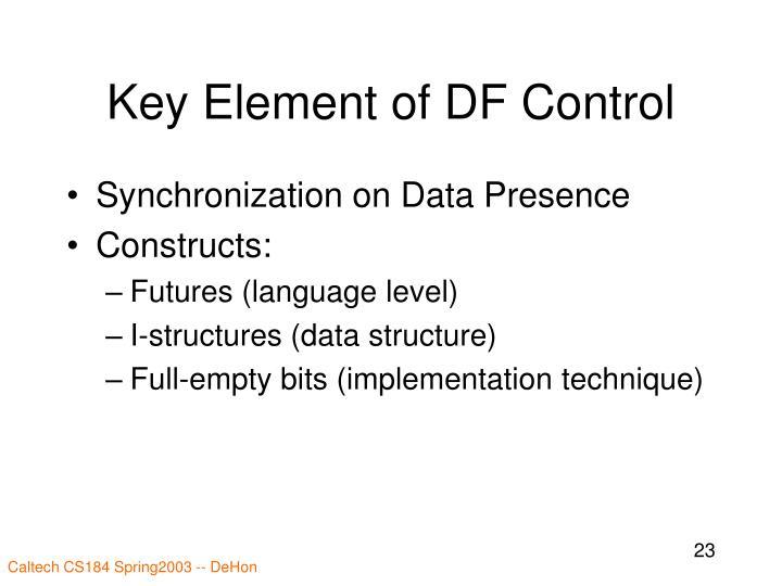 Key Element of DF Control