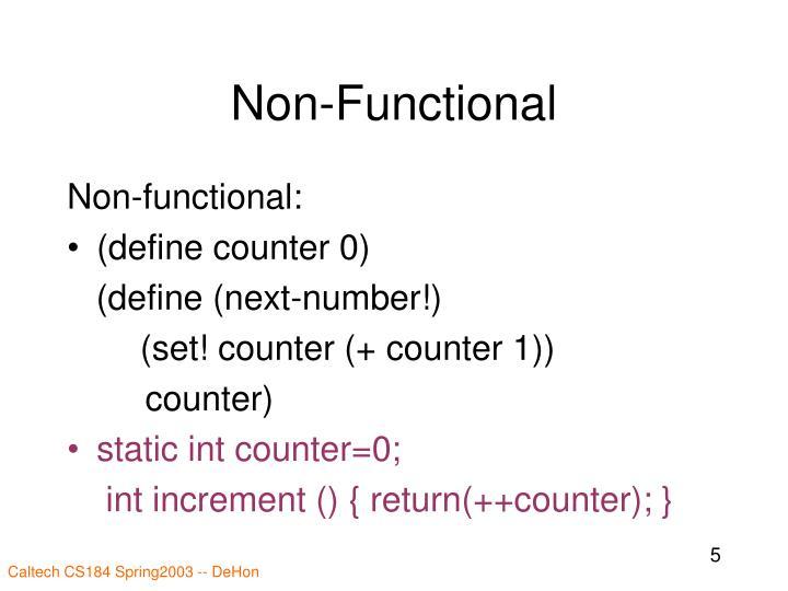 Non-Functional
