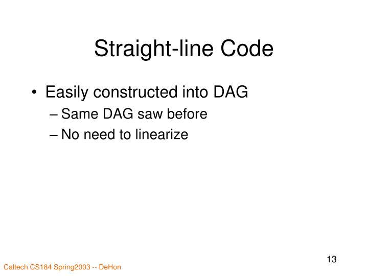 Straight-line Code