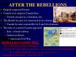after the rebellions