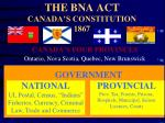 the bna act canada s constitution 1867
