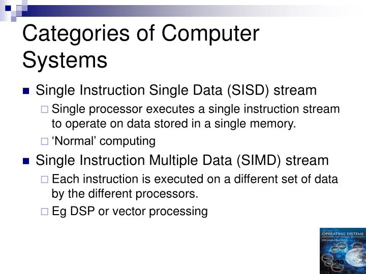 Categories of Computer Systems