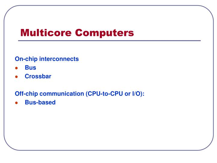Multicore Computers