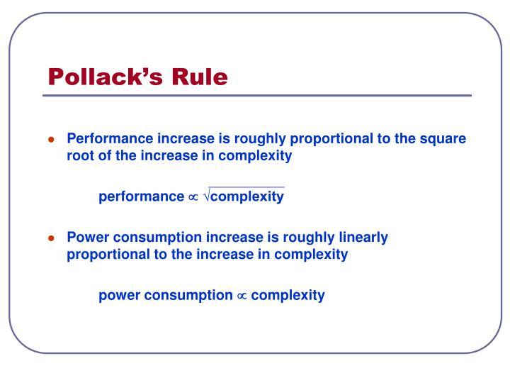 Pollack s rule