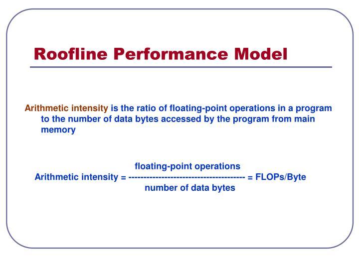 Roofline Performance Model
