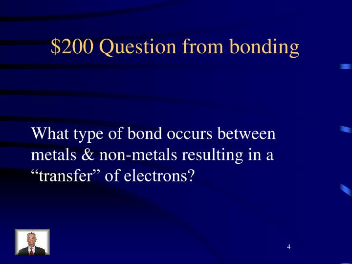 $200 Question from bonding