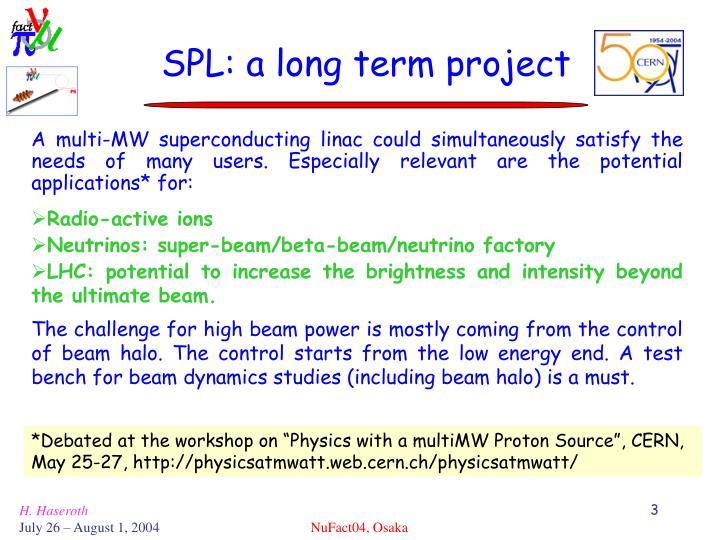 Spl a long term project