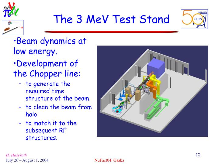 The 3 MeV Test Stand