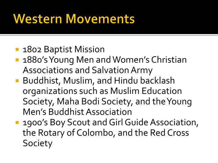 Western Movements