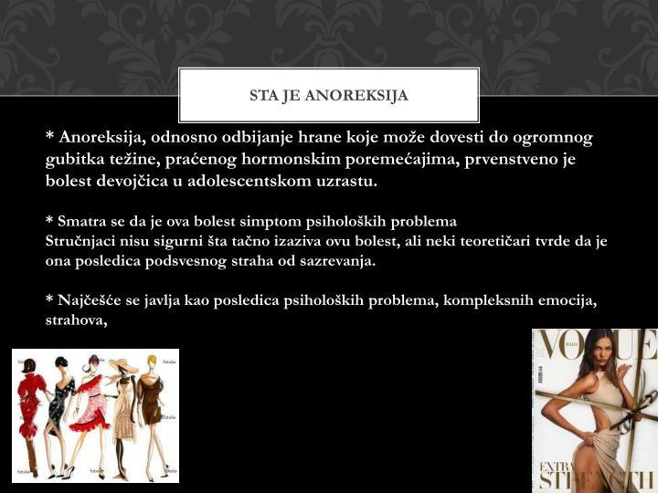 Sta je anoreksija