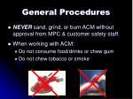 general procedures2