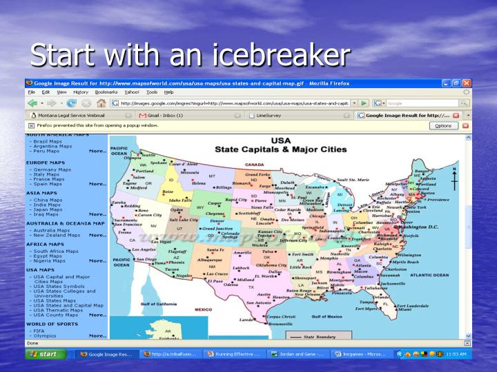 Start with an icebreaker