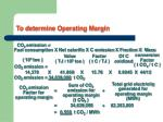 to determine operating margin1