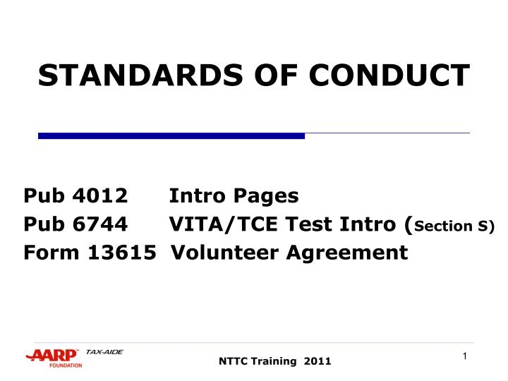 standards of conduct n.