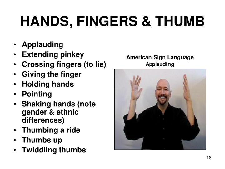 HANDS, FINGERS & THUMB