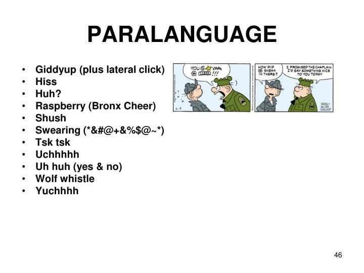 PARALANGUAGE