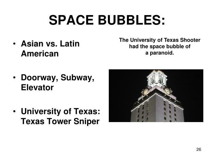 SPACE BUBBLES: