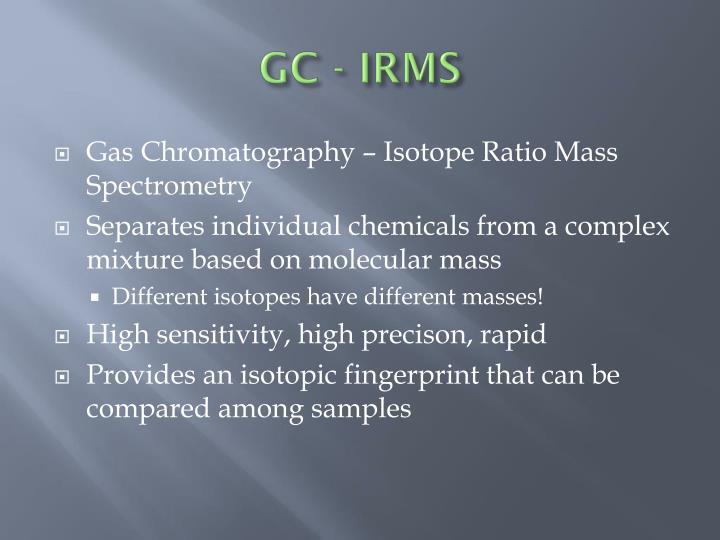 GC - IRMS