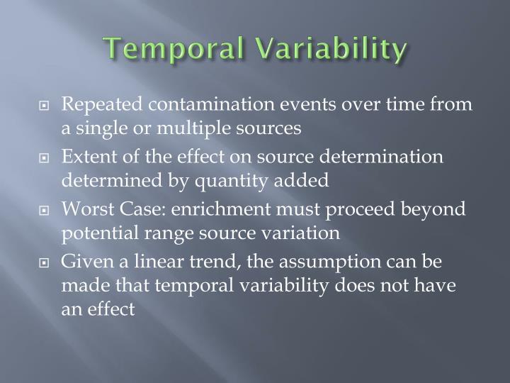 Temporal Variability